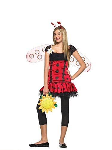 UHC Teen Girl's Daisy Bug Ladybug w/Wings Fancy Dress Halloween Costume, Teen M/L (8-14)