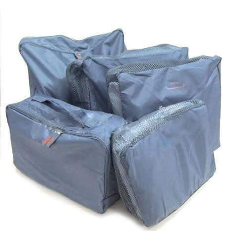 Amazon.com: 5 x Viajes equipaje Bolsa de almacenamiento ropa ...