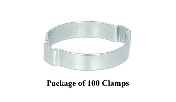 Oetiker 19//32 2-Ear Crimp Clamps 100//Bag 7 Bags
