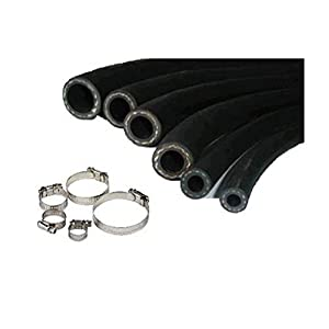 8mm CAR FUEL RUBBER HOSE SAEJ30 FUEL PETROL DIESEL UNLEADED INJECTION PIPE+CLIPS