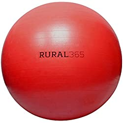 "Rural365 | Large Horse Ball Toy in Red, 40"" Inch Ball Anti-Burst Giant Horse Ball – Horse Soccer Ball, Pump Included"