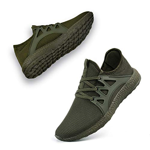 Guteidee Women's Sneakers Lightweight Breathable mesh Fashion Gym Tennis Sports Shoes Green]()