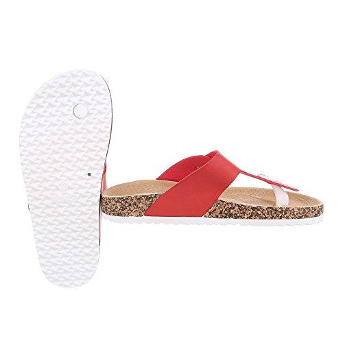 Ital-Design - Zapatos con tacón Mujer Rot JU-71