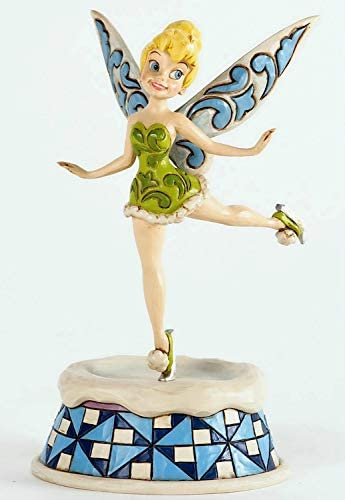 Jim Shore for Enesco Disney Traditions Tinker Bell Ice Skating Figurine, 6.5-Inch