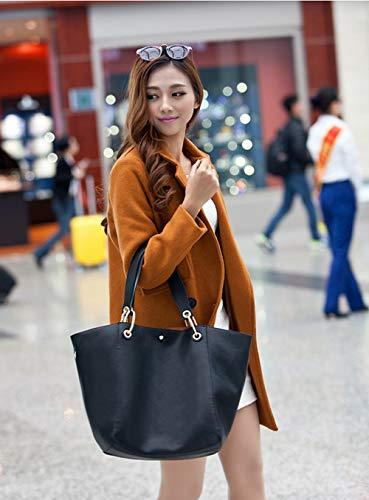 Main Large bandoulière Mode Femme à pour Fourre Sac a Cabas Capacité Sac Sac Filles Sac Grand Noir PU 4qwYO5nx1