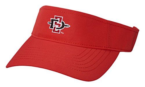 San Diego State Aztecs Baseball - Ouray Sportswear NCAA San Diego State Aztecs Performance Visor, Adjustable Size, Red