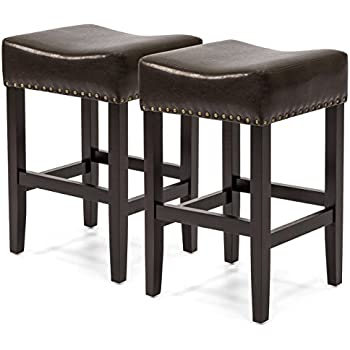 leather counter stools backless duff backless brown leather counter stools 6890