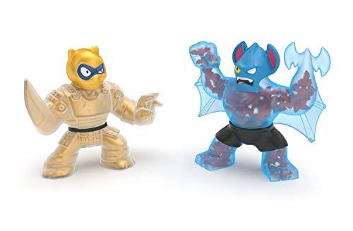 Heroes of Goo Jit Zu Water Blast Versus Pack – 2 Action Figure Pack Including Exclusive Golden Figure, Pantaro Vs Battaxe
