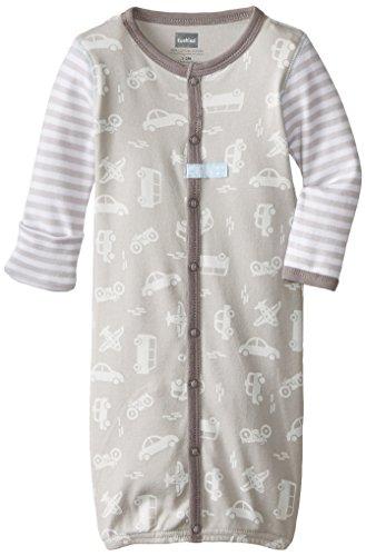Kushies Baby Newborn Convertible Gown Grey Premie