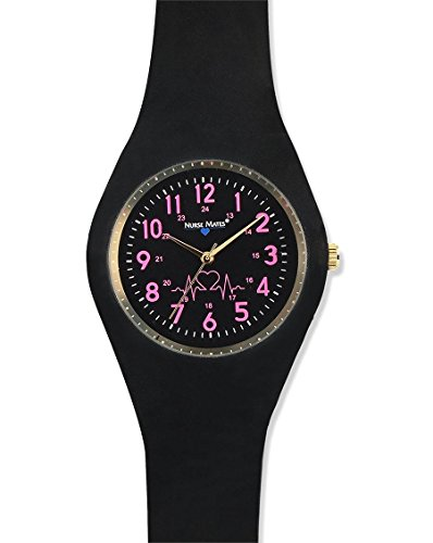 Nurse Mates Women's Uni-Watch Black