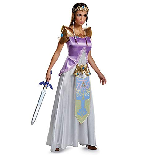 Disguise Womens Legend Deluxe Zelda Adult Costume, Multi, Small