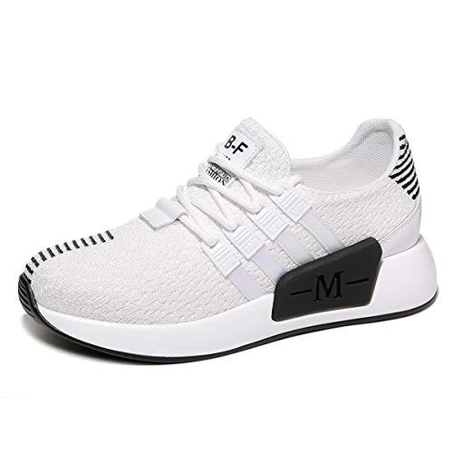 otoño de Dama de Tacon Colores Pasteles para White Zapatos Mujer Transpirable y Deportivos AJUNR Correr black Pendiente Zapatos Zapatos Luz E8wqv
