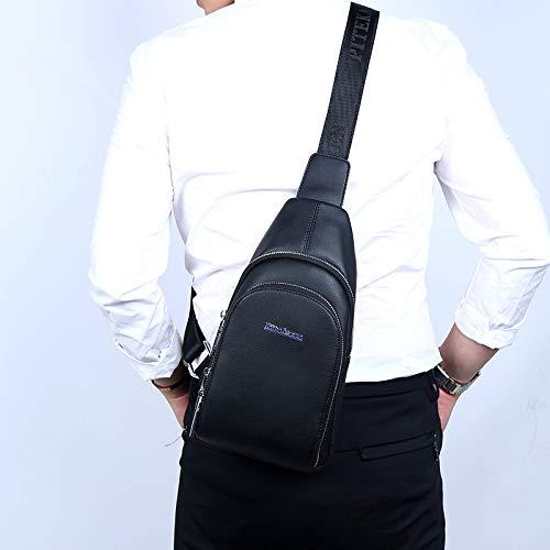 Bandoulière Mode Épaule noir D'épaule Plein Cuir De Pour Hommes Pu Air Multifonction À Sports En Dos Sac xBfww