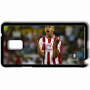 Personalized Samsung Note 4 Cell phone Case/Cover Skin Adolfo Bofo Football Black by lolosakes