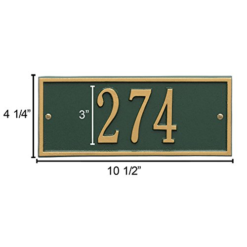 Whitehall Personalized Cast Metal Address Plaque - Small Hartford Custom House Number Sign - 10.5'' x 4.25'' - Allows Special Characters - Pewter/Silver by Whitehall (Image #6)