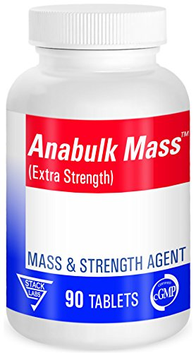 Stack Labs Anabulk Mass Bodybuilding Supplements to Increase Muscle Growth & Strength in Men - Great for Bulking - Fast Muscle Recovery & Less Fatigue - Protect & Lubricate Joints from Lifting. 90 Ct