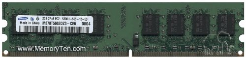 2GB PC2-5300 DDR2-667 240-pin SDRAM Non-ECC UDIMM for DELL, HP-COMPAQ, IBM, MSI, ASUS, Standard Desktop Memory by -