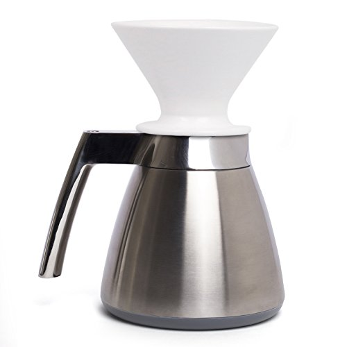 Ratio Thermal Carafe with Porcelain Dripper - Brushed Stainless (Carafe Stainless Porcelain Steel)