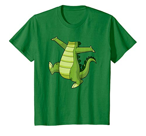 Kids Crocodile Alligator Easy Halloween Costume T-Shirt 4 Kelly Green