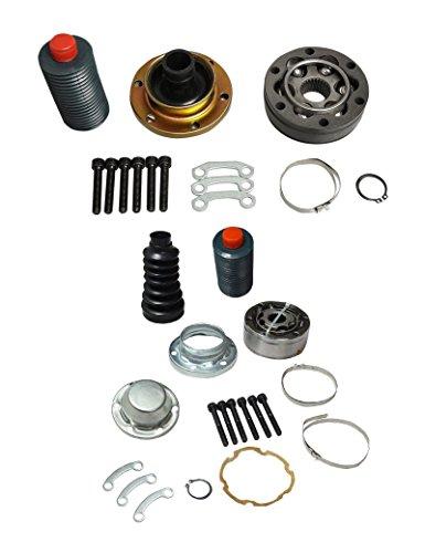 BLACKHORSE-RACING Front Drive Shaft Front & Rear CV Joint Repair Kits for Liberty Grand Cherokee 4WD 4X4 1999-2007 52099497AD 52099498AD