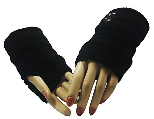 Fashion Dimensions Black Country Time Arm Warmer Gloves