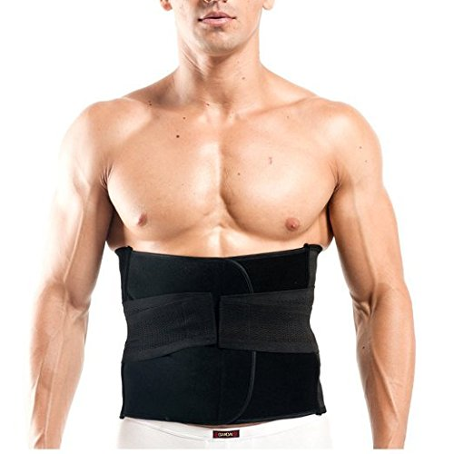 Healthcom Pro Men's Waist Trimmer Belt Lightweight Elastic Ajustable Sports