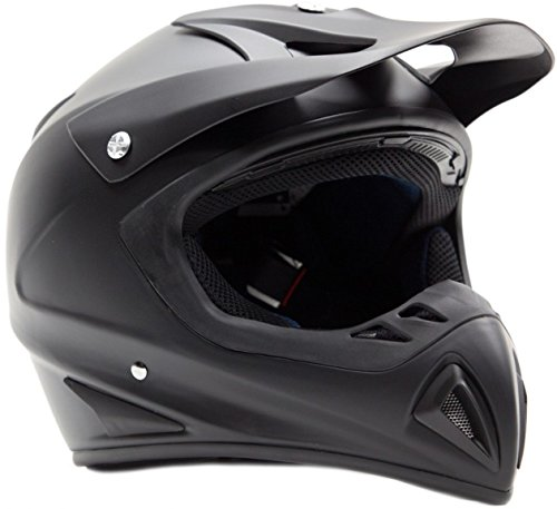 Matte Black Motocross Helmet - 9
