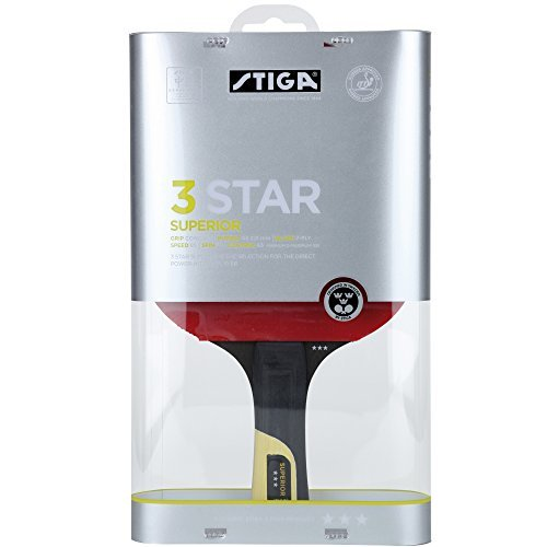 Stiga 3 Star Superior Table Tennis Bat by Stiga by Stiga