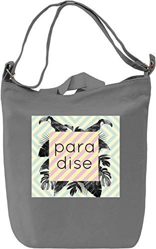 Paradise Print Borsa Giornaliera Canvas Canvas Day Bag| 100% Premium Cotton Canvas| DTG Printing|