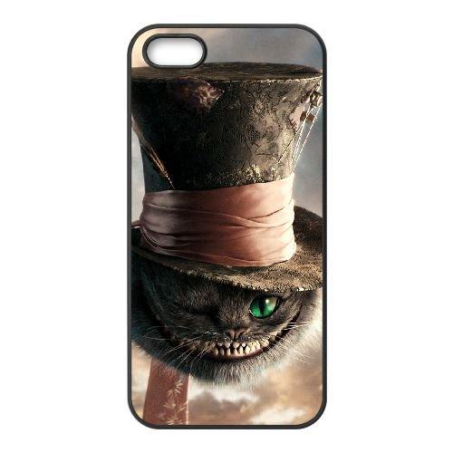 Alice In Wonderland 009 coque iPhone 5 5S cellulaire cas coque de téléphone cas téléphone cellulaire noir couvercle EOKXLLNCD21524