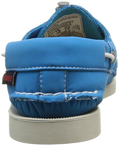 Sebago Damen Kades Bootsschuhe Blau (aqua Blauw Neopreen)