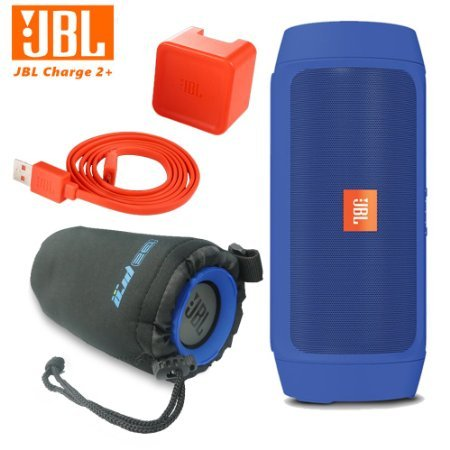 jbl-charge-2-plus-splashproof-portable-bluetooth-speaker-blue-i3epro-water-resistant-carry-pouch