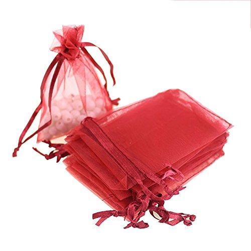 Tovip 3.54x2.76 (7x9cm) 100Pcs/Lot Organza Bags Wedding Pouches