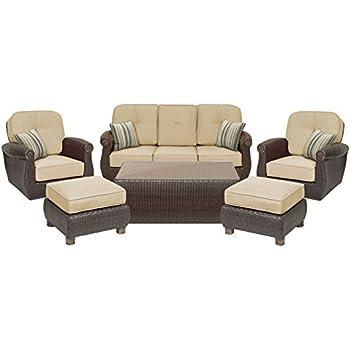 Good La Z Boy Outdoor Breckenridge 6 Piece Resin Wicker Patio Furniture  Conversation Set ( Part 29