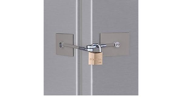Cerradura para puerta de frigorífico con candado de acero ...