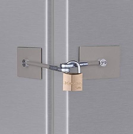 Stainless Steel Refrigerator Door Lock with Padlock by Marinelock LLC & Stainless Steel Refrigerator Door Lock with Padlock by Marinelock ...