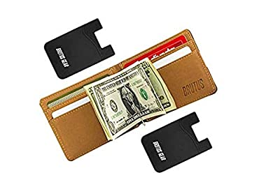 Magnet Money Clip Leather Wallet Magnetic Pocket RFID Blocking Card Holder