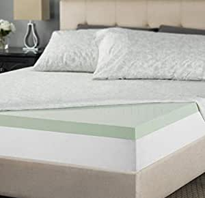 Amazon Com Zinus 2 Inch Green Tea Memory Foam Mattress