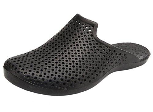 DADAWEN Men's Garden Beach Yard Mule EVA Clog Shoe Black