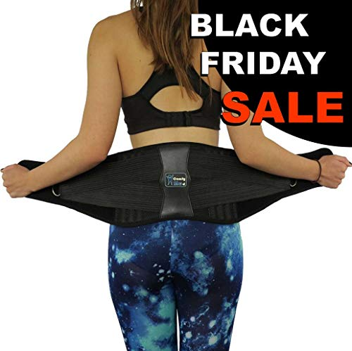 ComfyMed Premium Quality Back Brace CM-102M with Removable Lumbar Pad for Lower Back Pain Relief
