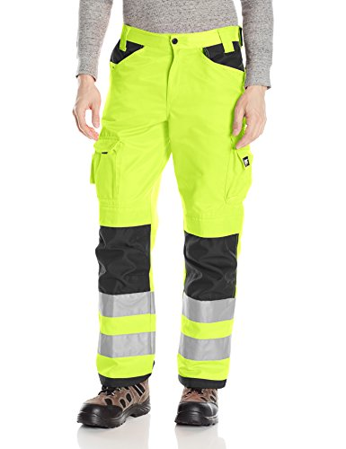 Caterpillar Men's Trademark Pant (Regular and Big & Tall Sizes), Hi Vis Yellow/B, 36W x 32L