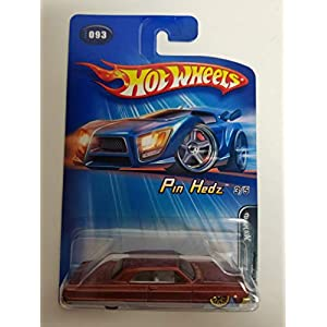 1964 Chevy Impala Gold SPOKED RIMS Pin Hedz 3 of 5 2005 Editions Hot Wheels diecast car No. 093