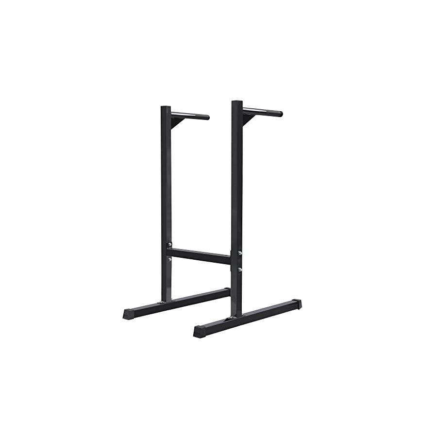 Dip Station Machine Self Standing Dip Bar Stand Bicep Tricep Exercise 500 lbs