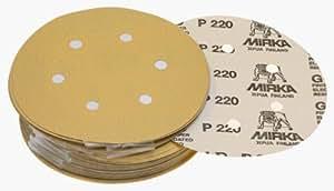 Mirka 23–624–060–66agujeros 60Grit Dustless Hook & Loop Discos de papel de lija–Pack de 50, modelo: 23–624–060, Tools & hardware Store