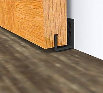 Hahaemall - Guía de pared para puerta corredera con tornillos: Amazon.es: Bricolaje y herramientas