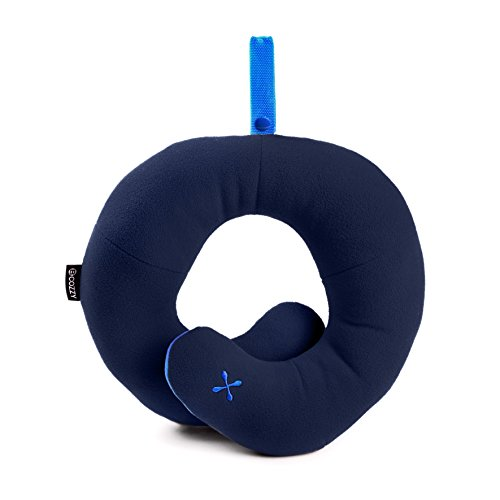 BCOZZY Kids Chin Supporting Travel Neck Pillow - Supports the Head, Neck and Chin in Maximum Comfort. A Patented Product. (CHILD Size, NAVY)