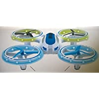 SYR-LED Night Light four-axis Quadcopter 4CH 2.4GHz 6 Axis Gyro UFO Drones RC remote control 360 Degree Roll-Over Helicopter - Blue