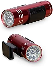 BBQ Croc Clip-On LED Pocket Light Snaps to Almost Anything, Great Flashlight for Barbecue, Camping, Hiking, Jo