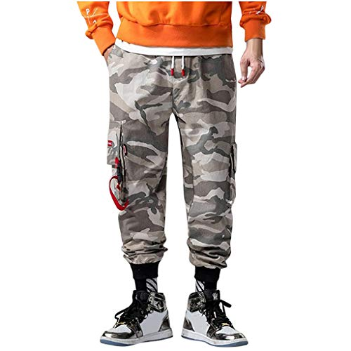 OrchidAmor Men's Casual Fashion Loose Camouflage Pockets Outdoors Sports Overalls Pants 2019 Summer