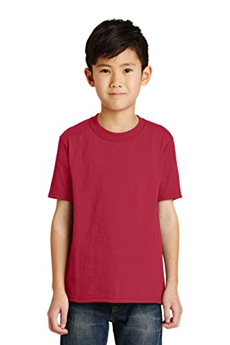 Port & Company Boys' 50/50 Cotton/Poly T Shirt L Red